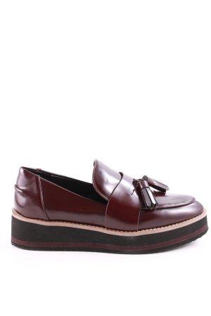 Zara Woman Zapatos sin cordones rojo-crema look casual