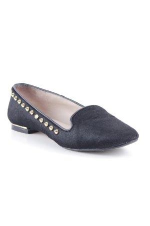 Zara Woman Schlüpfschuhe schwarz extravaganter Stil