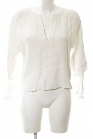 Zara Woman Blouse à enfiler blanc élégant