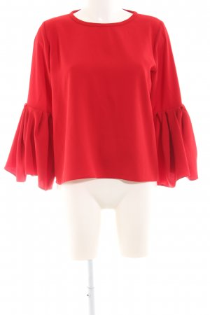 Zara Woman Schlupf-Bluse rot Business-Look
