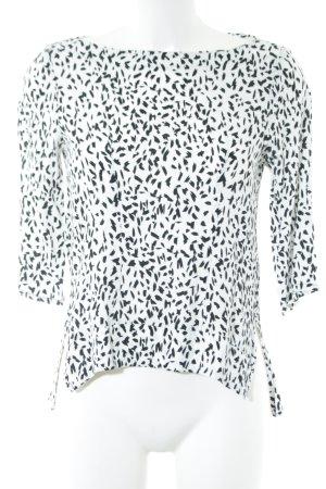 Zara Woman Schlupf-Bluse schwarz-weiß Allover-Druck Casual-Look