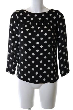 Zara Woman Schlupf-Bluse schwarz-weiß Punktemuster Business-Look