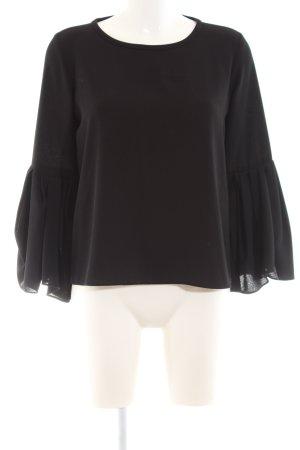 Zara Woman Schlupf-Bluse schwarz Business-Look