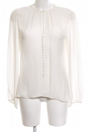 Zara Woman Schlupf-Bluse weiß Business-Look