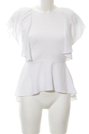 Zara Woman Schlupf-Bluse weiß Elegant