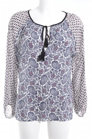 Zara Woman Schlupf-Bluse Ethnomuster Casual-Look