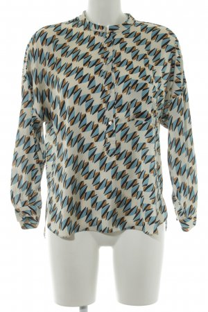 Zara Woman Schlupf-Bluse grafisches Muster Business-Look