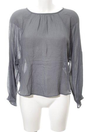 Zara Woman Schlupf-Bluse graublau Casual-Look