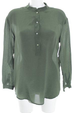 Zara Woman Schlupf-Bluse khaki Elegant