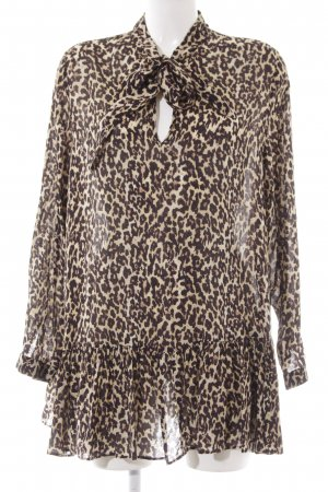 Zara Woman Blouse à enfiler motif léopard imprimé animal