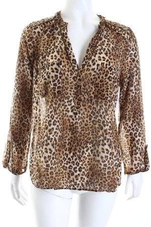 Zara Woman Schlupf-Bluse Leomuster Animal-Look
