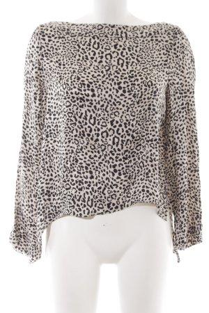 Zara Woman Blouse à enfiler motif léopard élégant