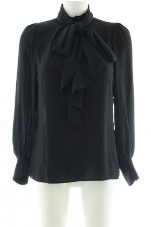 Zara Woman Schluppen-Bluse schwarz Business-Look