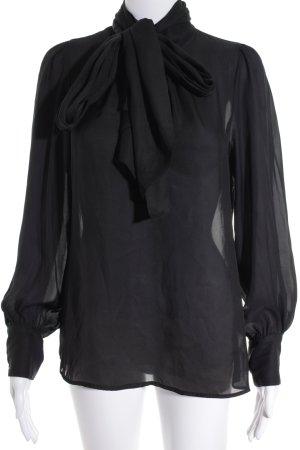 Zara Woman Stropdasblouse zwart elegant
