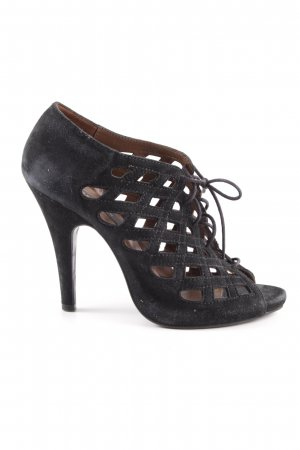 Zara Woman Lace-up Pumps black elegant