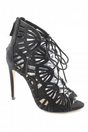 Zara Woman Lace-up Pumps black extravagant style