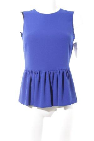 Zara Woman Schößchentop blau Casual-Look