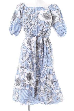 Zara Woman Off-The-Shoulder Dress flower pattern casual look