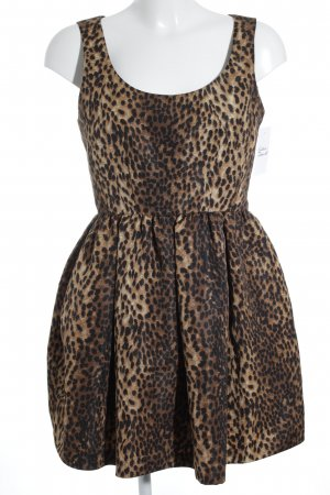 Zara Woman schulterfreies Kleid Animalmuster Business-Look