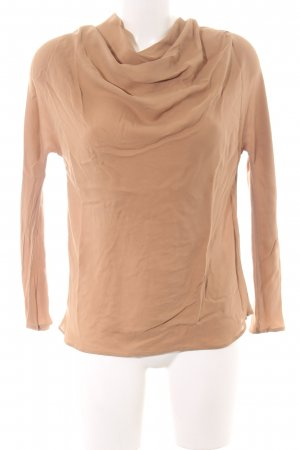 Zara Woman Seidenbluse nude Business-Look