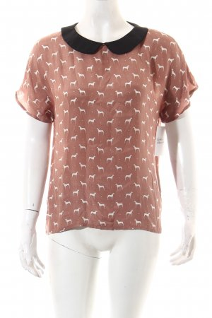 Zara Woman Seidenbluse Motivdruck Casual-Look