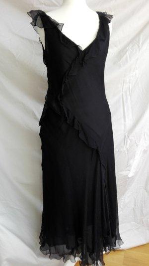 ZARA Woman Seidenkleid schwarz Gr. S