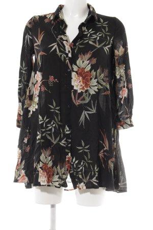 Zara Woman Shirtkleid Blumenmuster Casual-Look