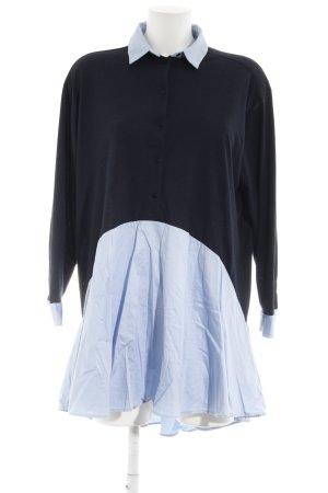 Zara Woman Shirt Dress dark blue-light blue business style