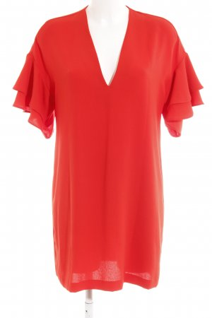 Zara Woman Shirtkleid rot Business-Look