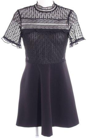 Zara Woman Shirtkleid schwarz Romantik-Look