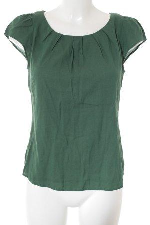 Zara Woman Camisa tipo túnica verde bosque look casual