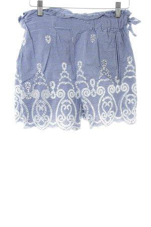 Zara Woman Shorts blau-weiß Karomuster Casual-Look
