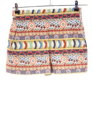 Zara Woman Shorts Mezcla de patrones elegante