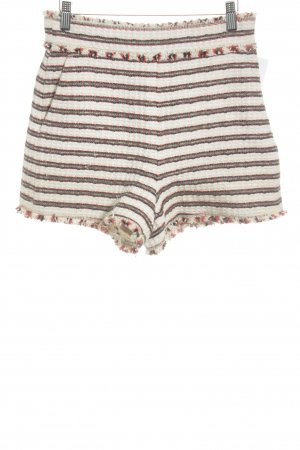 Zara Woman Shorts Streifenmuster Beach-Look