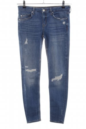 Zara Woman Skinny Jeans blau Casual-Look
