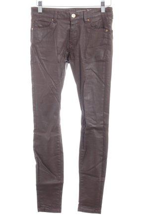 Zara Woman Skinny Jeans dunkelbraun Street-Fashion-Look