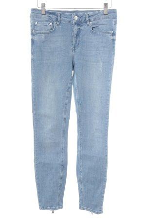 Zara Woman Skinny Jeans hellblau Casual-Look
