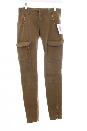 Zara Woman Skinny Jeans khaki Military-Look