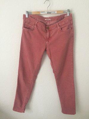 Zara Woman Skinny Jeans mit Reißverschlüssen Altrosa