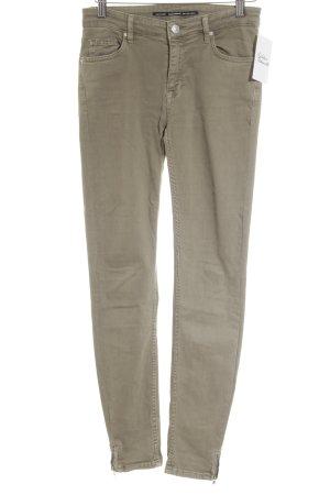 Zara Woman Skinny Jeans olivgrün Casual-Look