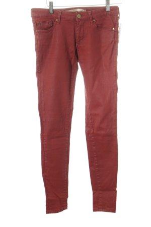 Zara Woman Skinny jeans roodbruin casual uitstraling