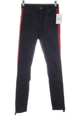 Zara Woman Skinny Jeans schwarz meliert Street-Fashion-Look