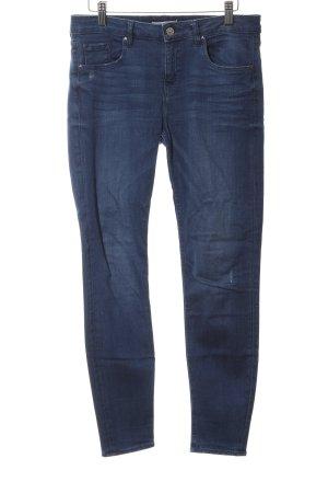 Zara Woman Skinny Jeans stahlblau Casual-Look