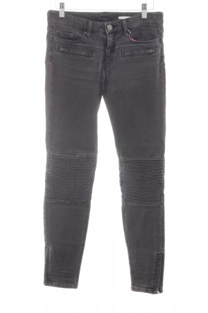 Zara Woman Vaquero slim gris claro look casual