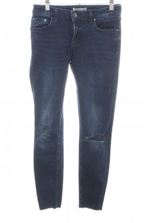 Zara Woman Slim Jeans blau Street-Fashion-Look