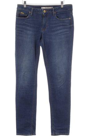 Zara Woman Slim Jeans blau Washed-Optik