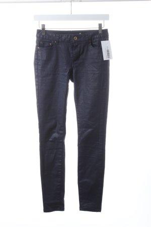 Zara Woman Slim Jeans dunkelblau Glanz-Optik