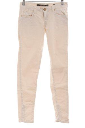 Zara Woman Slim Jeans hellbeige Casual-Look