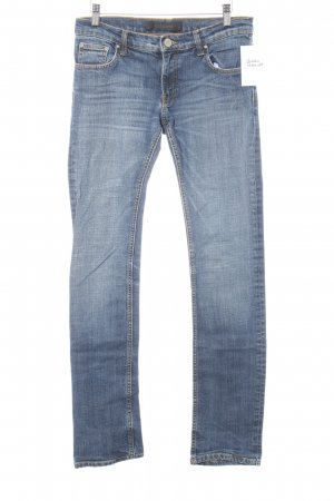 Zara Woman Slim Jeans kornblumenblau Casual-Look