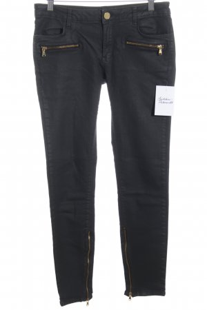 Zara Woman Slim Jeans schwarzbraun Casual-Look